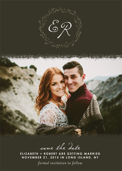save the date cards - Earthy Love by Gray Star Design