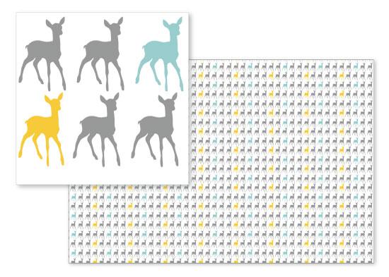 fabric - Deer Pattern by Sweet Noting