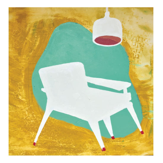art prints - retro series chair by ann t jones