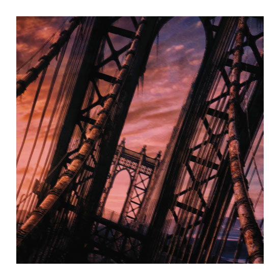 art prints - Sunset Brooklyn Bridge by Mazing Designs