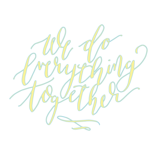 art prints - All Together by HOOKED Calligraphy