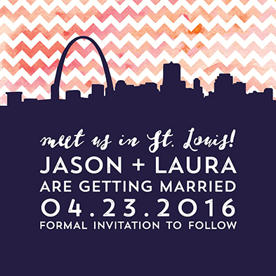 save the date cards - Meet Me in St. Louis by Jodi Stevens