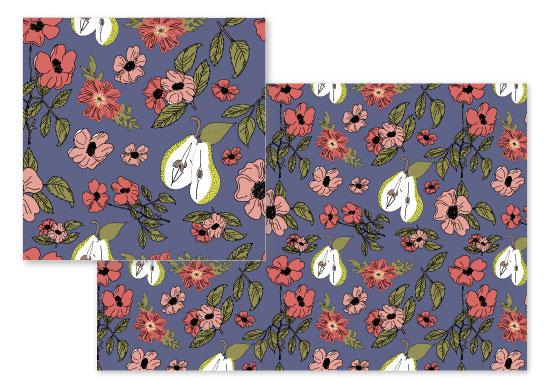 fabric - A Pretty Pear by Juliana Nahas-Viilo