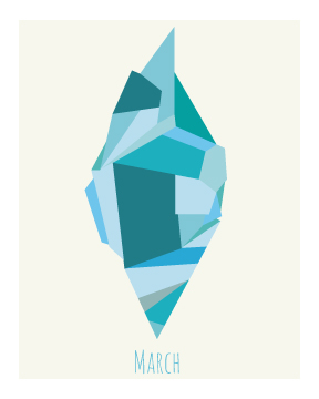 art prints - Aquamarine by Kirsten Alexis