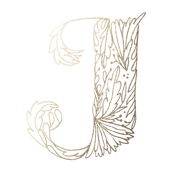 art prints - Botanical Letter Series J by Grace Kreinbrink
