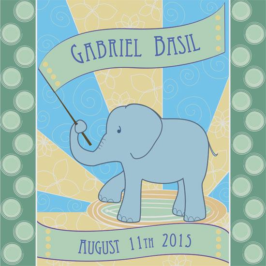 art prints - Elephant Banner by Niki Mangino