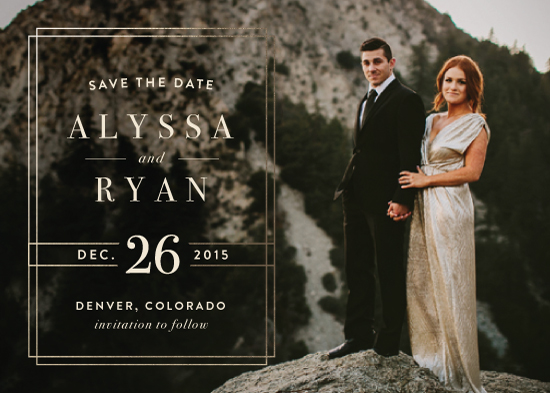 save the date cards - Modern Elegance by Alyssa Graves