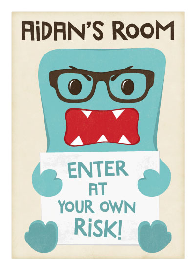 art prints - Enter at your own risk by Jennifer Morehead
