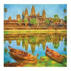 Angkor Wat and Boats