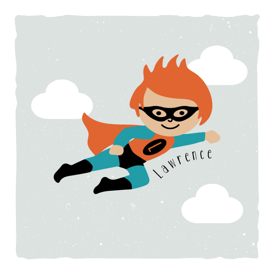 art prints - My Superhero by Kampai Designs