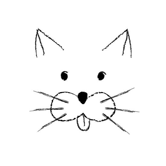 art prints - Charcoal cat by Leysan Shayakbirova