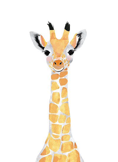 art prints - baby animal.giraffe by Cass Loh