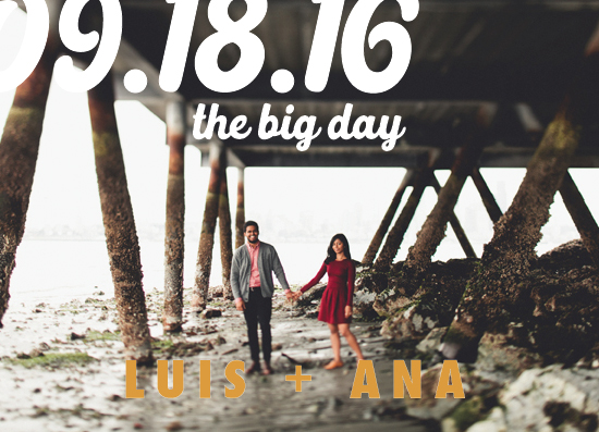 save the date cards - The Big Day by Kate Ross