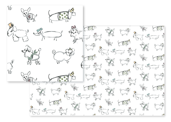 fabric - Dogs by Itsy Belle Studio