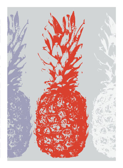 art prints - Pineapple Pop by Leanne Owens