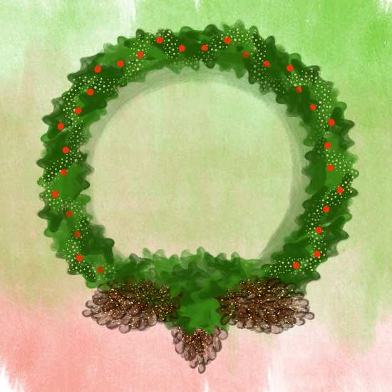 art prints - Holiday Wreath by LD Gonzalez