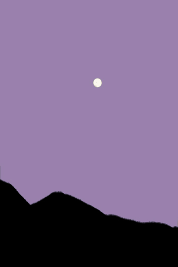 art prints - Moon Over Mountains by L. Manas