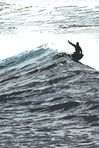 art prints - Surfer & Wave by L. Manas
