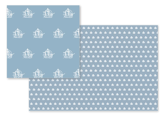 fabric - Sailboat Blue by Leanne Owens