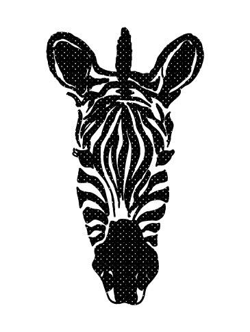 art prints - dots Zebra by Sabrina