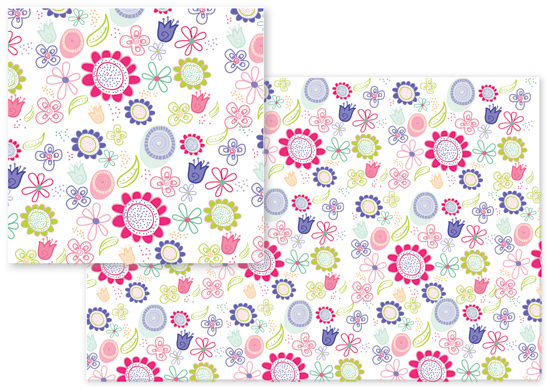fabric - Far Out Floral Print by Jessica Fadlevich