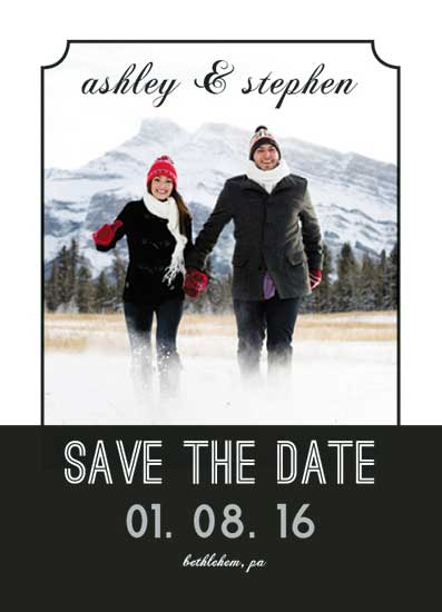 save the date cards - Black and White Modern by A Design Studio