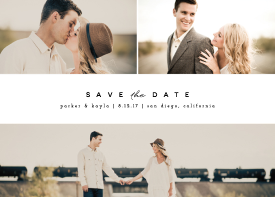save the date cards - Simple Date by peony papeterie