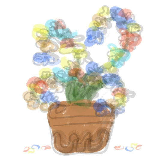 art prints - Colorful Flower Pot by LD Gonzalez