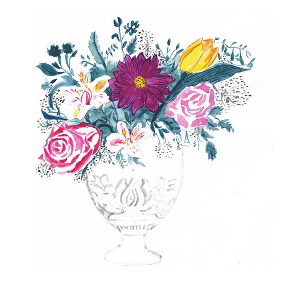 art prints - victorian flowers by L-Studio