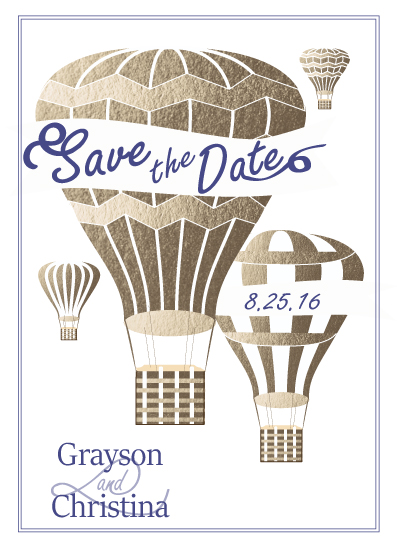 save the date cards - Love is in the Air by Ashlee Bordes