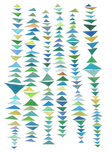 art prints - Flying Geese Triangles by Hi Uan Kang Haaga
