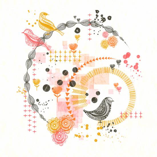 art prints - Birdie Vortex by Jenean Morrison