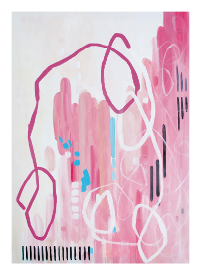 art prints - city in pink by Jennifer Hallock