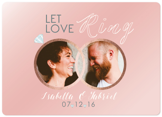 save the date cards - Let Love Ring by Elizabeth Popov