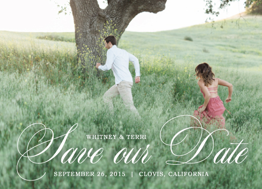 save the date cards - Meadow Lovers by Amanda Kay