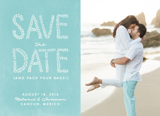 save the date cards - Beachy Blue by Lacie Cunningham