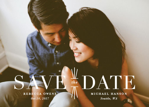 save the date cards - Mix + Mingle by Lauren Chism