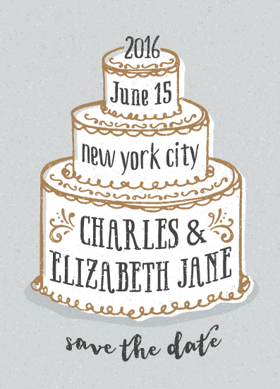 save the date cards - There Will Be Cake by Megan Tamaccio