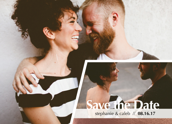 save the date cards - Inset Love by Michelle Afentoulis