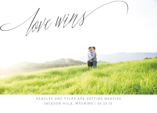 save the date cards - love wins by Squareview Studios