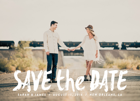 save the date cards - Painted Date by Chasity Smith