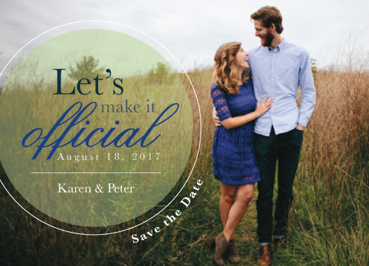 save the date cards - Make it Official by Michelle Afentoulis