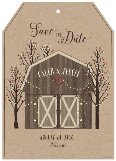 save the date cards - Country Celebration by Susan Moyal