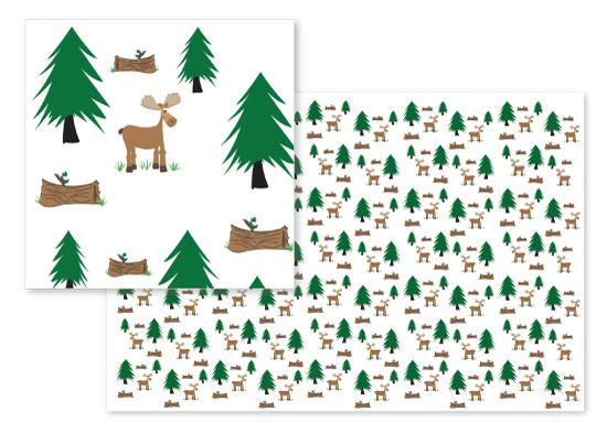 fabric - Woodland Moose by Ashlee Bordes