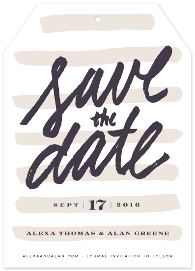 save the date cards - Simply Striped by Leah Bisch