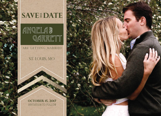save the date cards - Banner of Love by Michelle Afentoulis