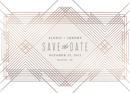 save the date cards - extended by Rebecca Bowen