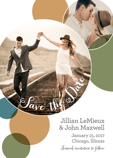 save the date cards - Sweet Circles by Marianne Stewart