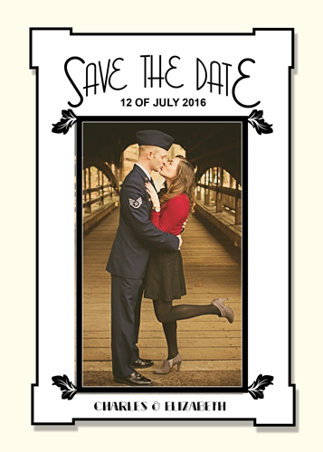 save the date cards - Guy Gets Doll by Laura Lea