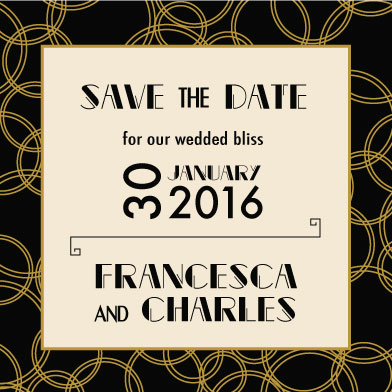 save the date cards - Romantic Deco by Laura Lea